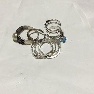 Silver rings#901